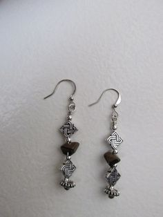 A personal favorite from my Etsy shop https://www.etsy.com/listing/268308254/dangle-earrings-with-tiger-eye-chip-and