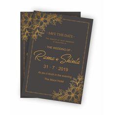 Black, Gold, Wedding Invitation, Wedding Card, Undangan, Pernikahan