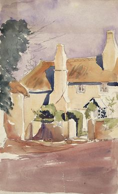 Sketch of a cottage by Beatrix Potter: Place as Inspiration - Victoria and Albert Museum