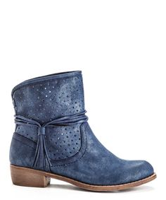 Navy Tassel Catch Ankle Boot | zulily