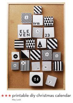 DIY advent calendars from Design Crush
