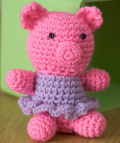 Little Crochet Piggy Crochet Pattern, freebie xox