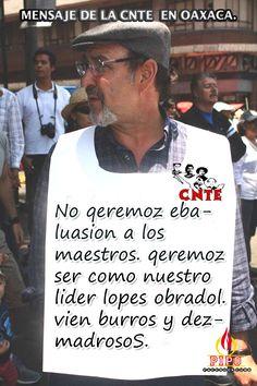Mensaje de la CNTE en Oaxaca.