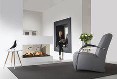 Mooie roomdivider voorzien van dubbele brander