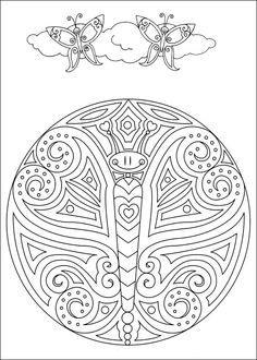 Disegni da Colorare Mandalas 86