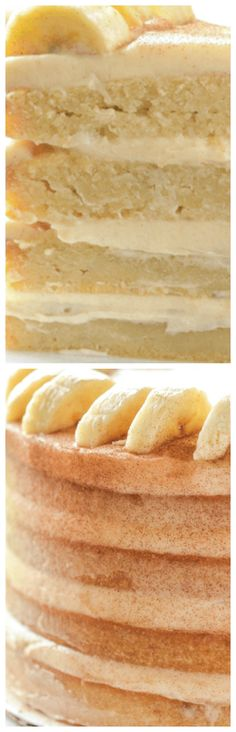 Banana Dream Cake with Cinnamon Cream Cheese Frosting ~ The BEST banana cake ever... Super moist, fluffy and delicious.