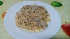 Bimby: Esparguete com camarão, atum e cogumelos