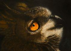 Owl in soft pastels. Charmaine Diedericks