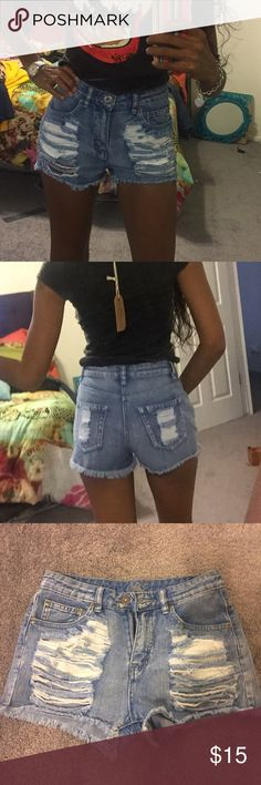 Denim Cutoffs Shorts You can never go wrong with cutoffs. Can be worn with leggings and booties when it's cold out when u head to the beach the for vacation Shorts Jean Shorts
