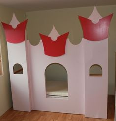A bed that looks like a castle