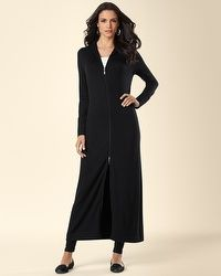 Divine Terry Long Hooded Zip Jacket Black  my soma wish list sweeps Terry  Long d1f75dabb