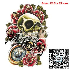 Find More Temporary Tattoos Information about Temporary Arm Tattoos waterproof Big sex products makeup tattoo body art henna tatouage/1pc/lot/AX33 Skull,Rose,pocket watch,High Quality sticker auto,China sticker booklet Suppliers, Cheap sticker tile from Betty's Tattoo Sticker on Aliexpress.com