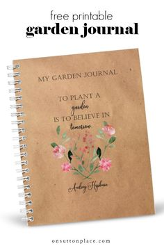 Free Garden Planner, Apothecary Jars Decor, Garden Journal, Junk Journal, Journal Ideas, Linen Spray, Garden Care, Plant Care, Container Gardening