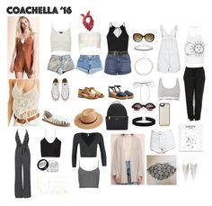 """Ariana Inspired Outfits/Clothing/Accessories for Coachella"" by aglookbook ❤ liked on Polyvore featuring Converse, Topshop, Carmar, Levi's, Staring At Stars, Ecote, Henri Bendel, Wildfox, Lilou and ASOS"