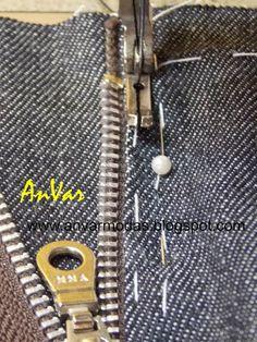 AnVar - Te enseño a coser: CÓMO COLOCAR EL CIERRE AL PANTALÓN