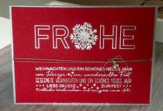 Stempel-Wahn: Schnelle Weihnachtskarten