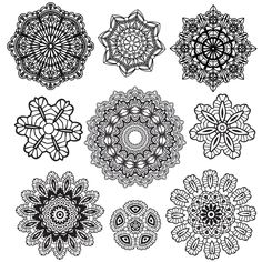 Lace Doiley - Printable - could also use for snowflakes, or nice Christmas table decorations under baking or candles