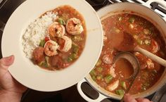 I confess to using all three — a roux, okra and filé powder — in my own gumbo, which I hope is not sacrilegious. Not having grown up in gumbo territory, I based mine on a number of visits to New Orleans. Click the link to read the complete recipe. (Photo: Fred R. Conrad/The New York Times)