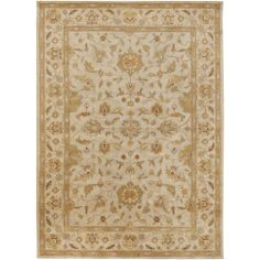 12 x 15 Los Cabos Tan and Khaki Green Hand Tufted Wool Area Throw Rug Review Buy Now