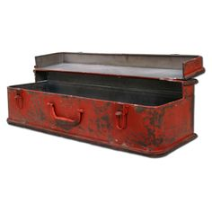 (((BEST PRICE $56.95))) ***$63.95-Valise Wall Storage Box / METAL / RED / ***26W X 7.5H