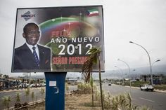 With support from American lobbyists and government officials, oil companies and the banking industry, President Obiang is overhauling his public image and attempting to legitimize his government. Image by William Sands. Equatorial Guinea, 2012.