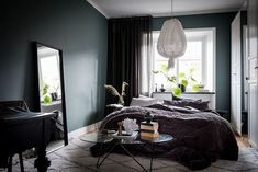 Deep Hues in a Calm Swedish Apartment