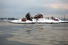 Helsinki, Finland. January 2012. On the way to Suomenlinna.