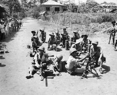 Filipino guerilla fighters pose with weapons supplied by the Allies to help fight the Japanese occupation of the Philippines. Estimates of the Filipino Resistance through the Japanese occupation. O Donnell, Military Units, Military History, Palawan, Manila, World War Two, Old World, Filipino Fashion, Leyte