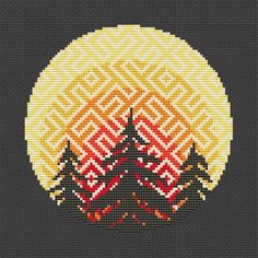 Forest cross stitch