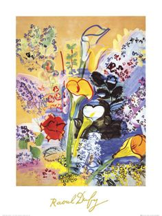 Bouquet d'Arums Poster by Raoul Dufy at AllPosters.com, line example