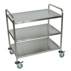 "Stainless Steel Utility Cart (Stainless Steel) (34""H x 22""W x 17""D) for pantry in extra spot to pull out when full kitchen"