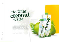 A smooth and refreshing horizontal scrolling website for Obrigado Coconut Water. It's a colorful experience that is packed with exciting details and animations for you to discover. Great Website Design, Interactive Websites, Water Packaging, Web Design Trends, Site Internet, Coconut Water, Page Design, Packaging Design, Pure Products