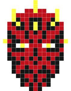 Darth Maul pixel art - Stickaz