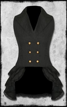 i love steampunk! waistcoat..with bustle