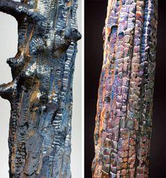 "Burnt wood art ""Burn Scapes"" by Suzi Woolfe"