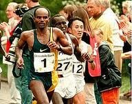 Belayneh Densamo (born June 28, 1965 in Diramo Afarrara, Sidamo) is a long-distance track and road running athlete from Ethiopia. He held the world record in the marathon for 10 years (1988-1998). | Sidama Worancha. #Ethiopia #Sidama