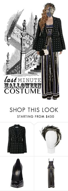 """Last Minute"" by aivvva ❤ liked on Polyvore featuring Givenchy, Nana', Yves Saint Laurent, Naeem Khan, AND B, Halloween, party, contestentry and halloweencostume"