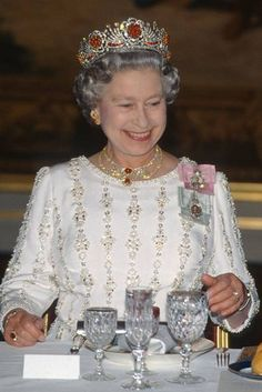 A guide to Queen Elizabeth II's most famous jewellery collection including her collection of tiaras, crowns, brooches, necklaces and Queen Elizabeth Tiaras, Elizabeth First, Queen Elizabeth Wedding, Royal Crowns, Tiaras And Crowns, Lovers Knot Tiara, Imperial State Crown, Princess Alice, Princess Diana