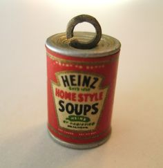 VINTAGE Tin Can HEINZ HOME STYLE SOUP Metal Charm 1939 NY World's Fair New York in Collectibles, Advertising, Merchandise & Memorabilia | eBay