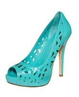 BCBGeneration Shoes, Landee Peep Toe Perforated Pumps