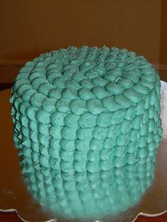 Green smash cake