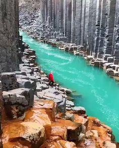 Natural basalt canyons in Iceland kicking your wanderlust 🙌🏻😍 - Moshlem 666 - Nature travel Beautiful Places To Travel, Wonderful Places, Cool Places To Visit, Amazing Places On Earth, Amazing Things, Vacation Places, Dream Vacations, Vacation Spots, Nature Photography