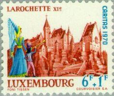 Sello: Castle Larochette (Luxemburgo) (Castles) Mi:LU 818,Yt:LU 768