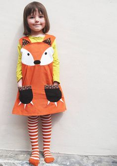 Girls Dress Handmade Fox Costume #Halloween