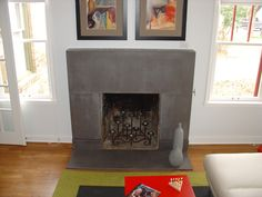 Update your fireplace surround with #quikrete concrete for a ...