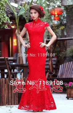 new arrival cheongsam chinese traditional dress lace long cheongsam qipao 2014-in Cheongsams from Novelty & Special Use on Aliexpress.com | Alibaba Group