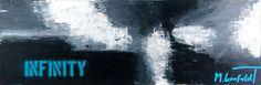 Liquid Skies I 40x120 cm  1.499 dkk - Art by Lønfeldt - original abstract painting, modern textured art, colorful