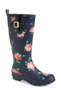 Joules Print Welly Rain Boot (Women) available at #Nordstrom - Check out the London Bus