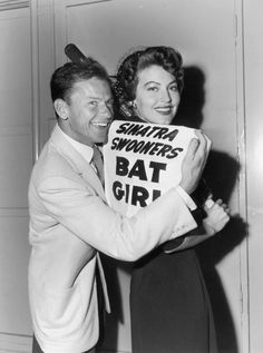 SINATRA'S BASEBALL TEAM - Frank Sinatra & his 'Sinatra Swingers' also have a gorgeous bat girl in Ava Gardner