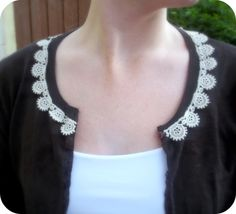 lace-embellished cardigan